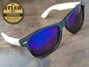 "Holz Sonnenbrille ""Blue Edition"""