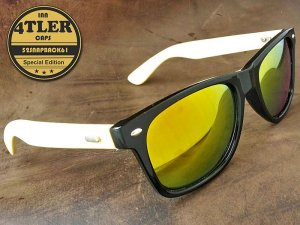 "Holz Sonnenbrille ""Yellow Edition"""