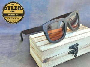 "Vollholz Sonnenbrille ""Brownie Edition"""