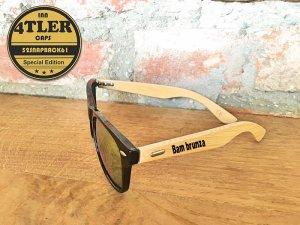 "Holz Sonnenbrille ""Bam brunza"""