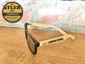 """Holz Sonnenbrille """" Lederhosen Cowboy """""""
