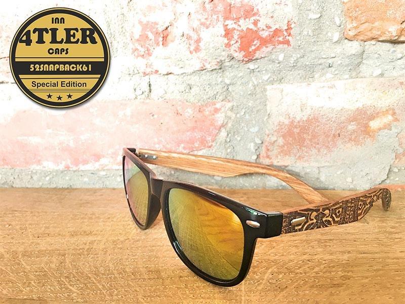 Holz Sonnenbrille im Maori Design