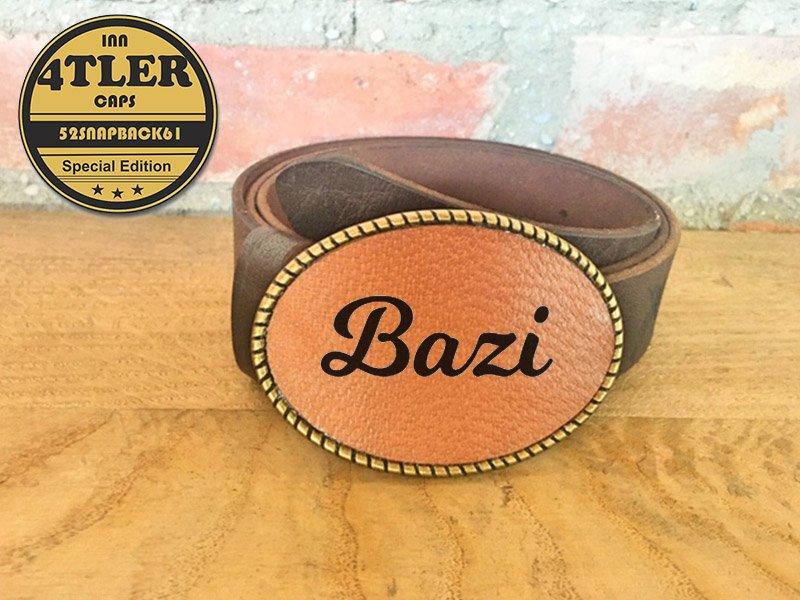 Gürtelschnalle mit  Bazi Logo