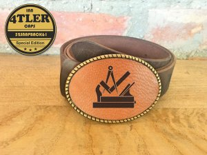 Gürtelschnalle mit  Tischler/ Schreiner Logo